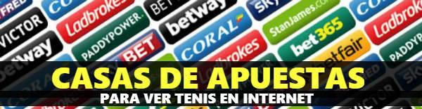 Las mejores casas de apuestas para ver partidos de tenis en línea